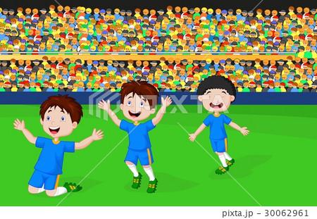 Children celebrate his goalのイラスト素材 [30062961] - PIXTA