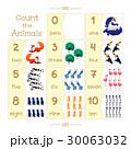 数える カード 札のイラスト 30063032