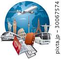 飛行機 航空機 交通のイラスト 30067574