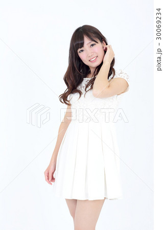若い女性 ファッション ポートレート 30069234