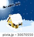 House in snow on the Christmas background 30070550