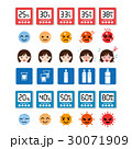 熱中症と湿度の注意アイコンセット 30071909