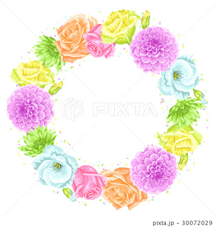 Decorative frame with delicate flowers. Object for 30072029