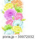 花 バラ 菊科のイラスト 30072032