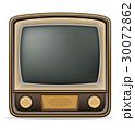 TV テレビ レトロのイラスト 30072862