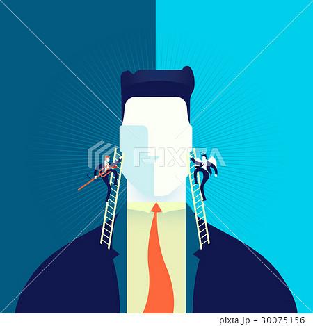 Good or bad business decision concept illustration 30075156