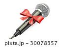 マイクロフォン 蝶結び 立体のイラスト 30078357