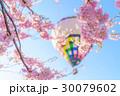 熱気球と桜14 30079602