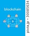 ブロックチェーン ネットワーク テクノロジーのイラスト 30085634