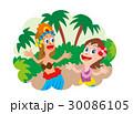 ハワイアンダンス ハワイ フラダンスのイラスト 30086105