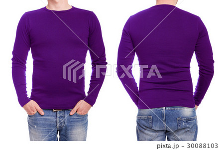 Young man with purple t shirt 30088103