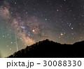 山越しのさそり座と天の川に流星 30088330