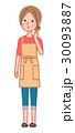 女性 人物 主婦のイラスト 30093887