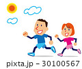 ジョギング ランニング 走るのイラスト 30100567