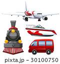 飛行機 航空機 交通のイラスト 30100750