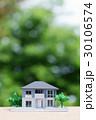 新緑の中の住宅模型 30106574