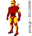 Cartoon red humanoid robot 30110686