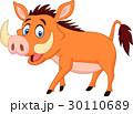 イボイノシシ 動物 マンガのイラスト 30110689