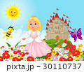 Cute princess in the floral garden 30110737