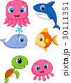 Sea life cartoon set 30111351