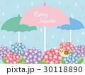 梅雨 紫陽花 雨のイラスト 30118890