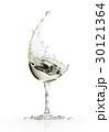 ホワイト ぶどう酒 ワインのイラスト 30121364