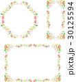 薔薇 花 フレームのイラスト 30125594