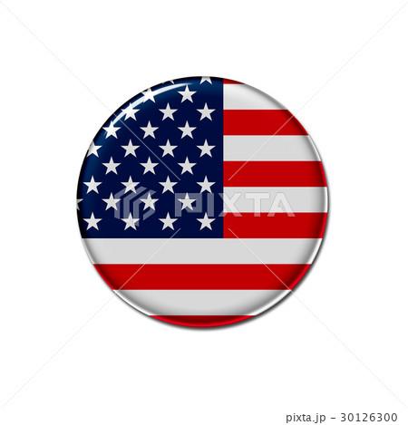 缶バッジ 国旗 アイコン アメリカのイラスト素材 [30126300] - PIXTA