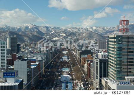 さっぽろテレビ塔展望台から大倉山方面を望む 30127894