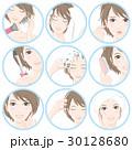 女性 美容 ヘアケアのイラスト 30128680