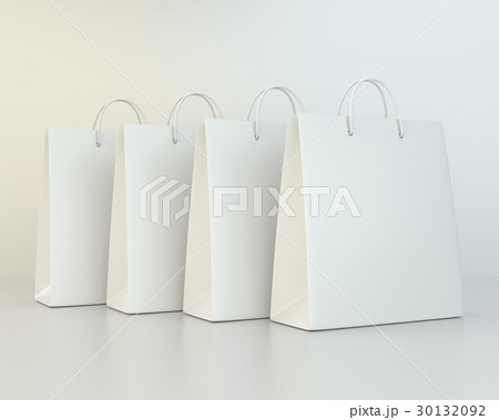 blank shopping paper bags template set 30132092