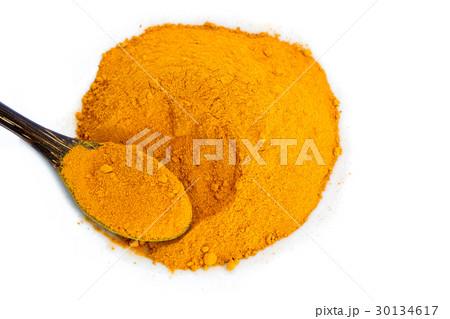 Turmeric roots with turmeric powderの写真素材 [30134617] - PIXTA