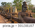 Statues of Devas on bridge to Angkor Thom 30138107