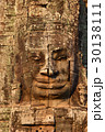 Giant stone face at Bayon Temple in Cambodia 30138111