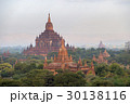 Temples in Bagan at sunset, Myanmar 30138116