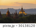 Illuminated Temples of Bagan in dusk 30138120