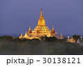 Illuminated Ananda Pagoda in Bagan at night 30138121