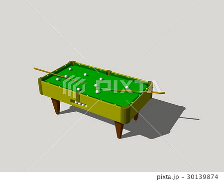 Billiard table. Isolated on grey background. のイラスト素材 [30139874] - PIXTA