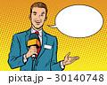 ジャーナリスト 記者 レポーターのイラスト 30140748