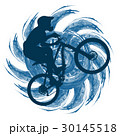 Circuit bicyclist on  abstract figure background  30145518