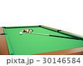 3D illustration Billiard balls in a green pool 30146584