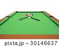 3D illustration Billiard balls on green table with 30146637