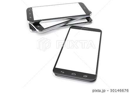 modern smart phone white screen for mockupのイラスト素材 30146676