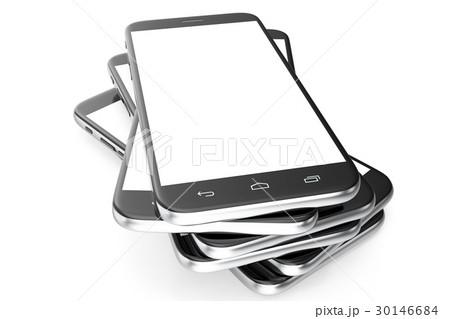 modern smart phone white screen for mockupのイラスト素材 30146684
