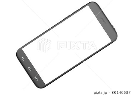 modern smart phone white screen for mockupのイラスト素材 30146687