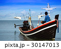 Fishing boats on the sea 30147013