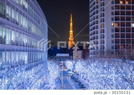 東京タワー_冬のけやき坂 30150131