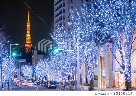 東京タワー_冬のけやき坂 30150214