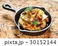 パンケーキ ホットケーキ お肉の写真 30152144