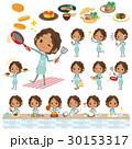Black school girl cooking 30153317